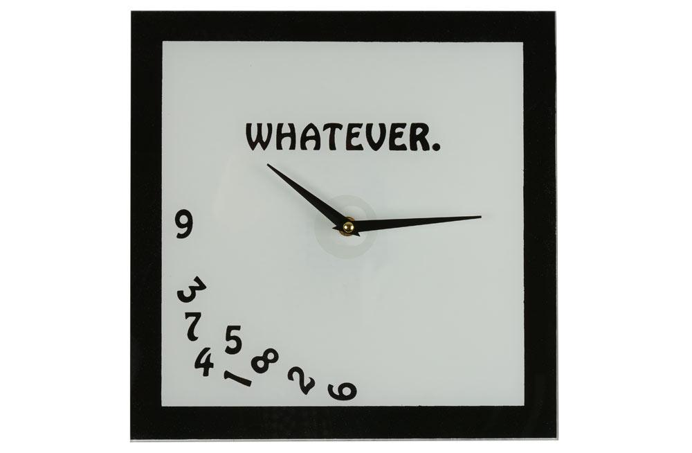 Wall clock Whatever, 30x30cm