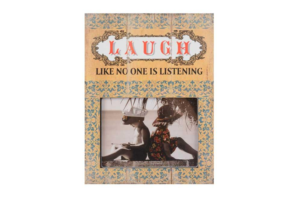 "Foto rāmis ""Laugh like no one..."", 10x15cm"