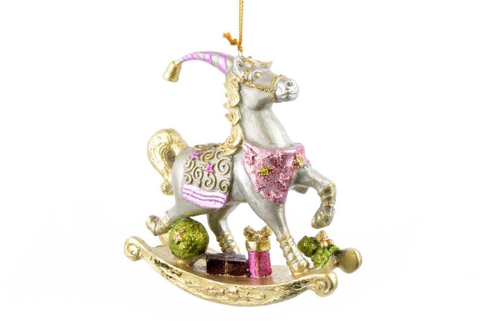 Christmas Horse Decorations.Christmas Ornament Rocking Horse Christmas Decorations