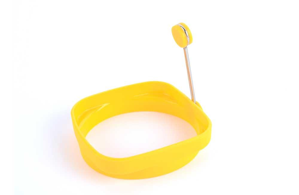 Silicone Egg ring, yellow, H-8cm, D-8,5cm