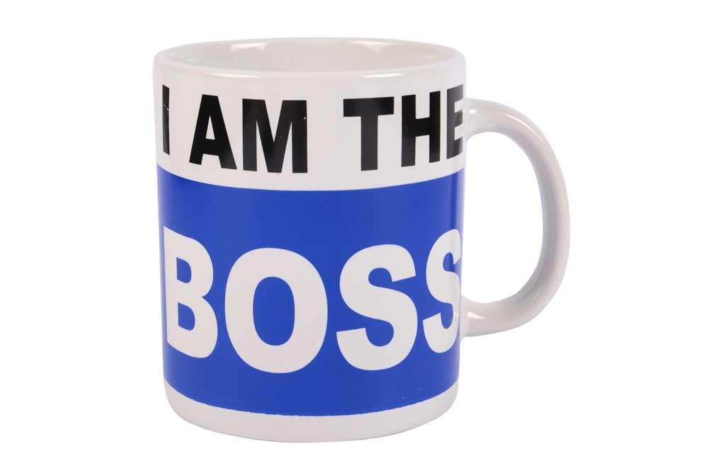 Mug I am the Boss, 13x11cm