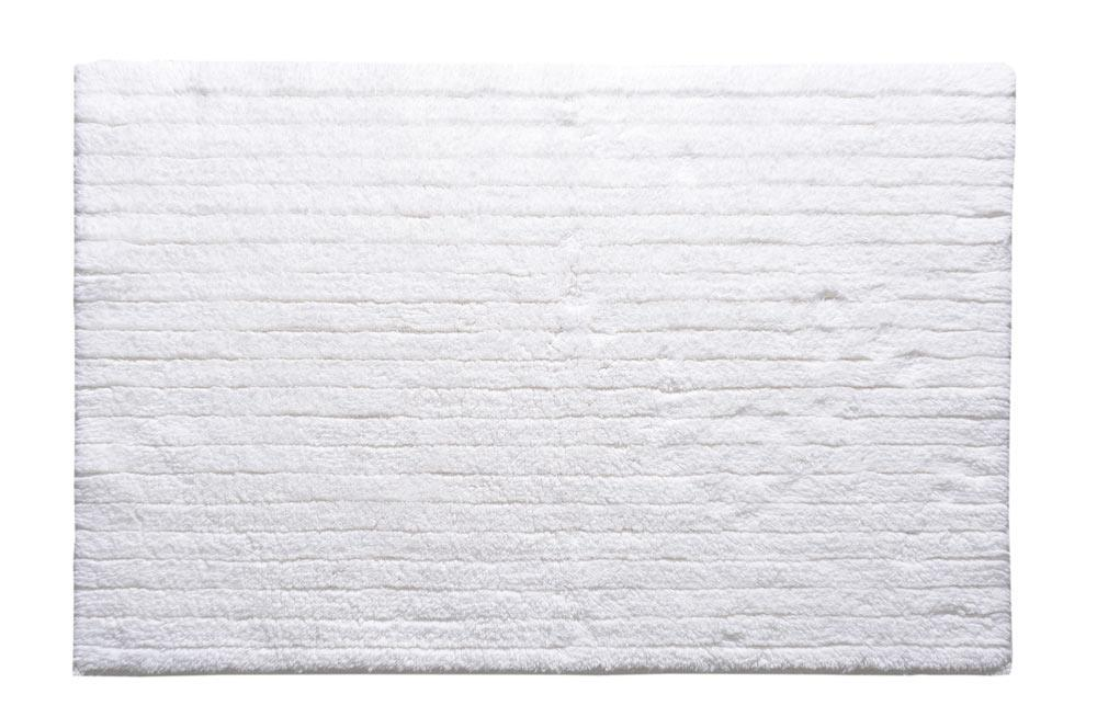 Bath Rug Stripes white 60x90 cm