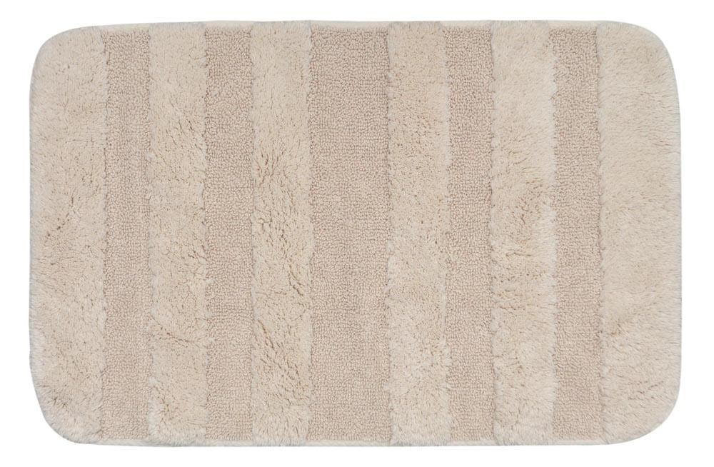 Bath Rug Stripes Ecru 60x90 cm