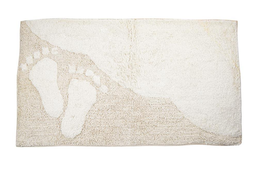 Bath Mat Ibeach, beige-white, 60x100cm