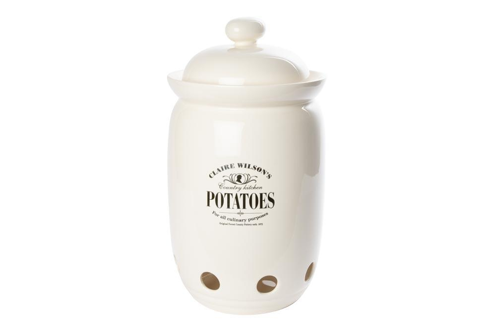 Storage Jar Potatoes, H40x22cm