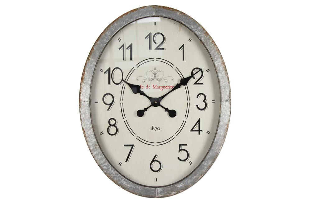 Iron wall clock Cafe de Marquerite, H68x54x6cm