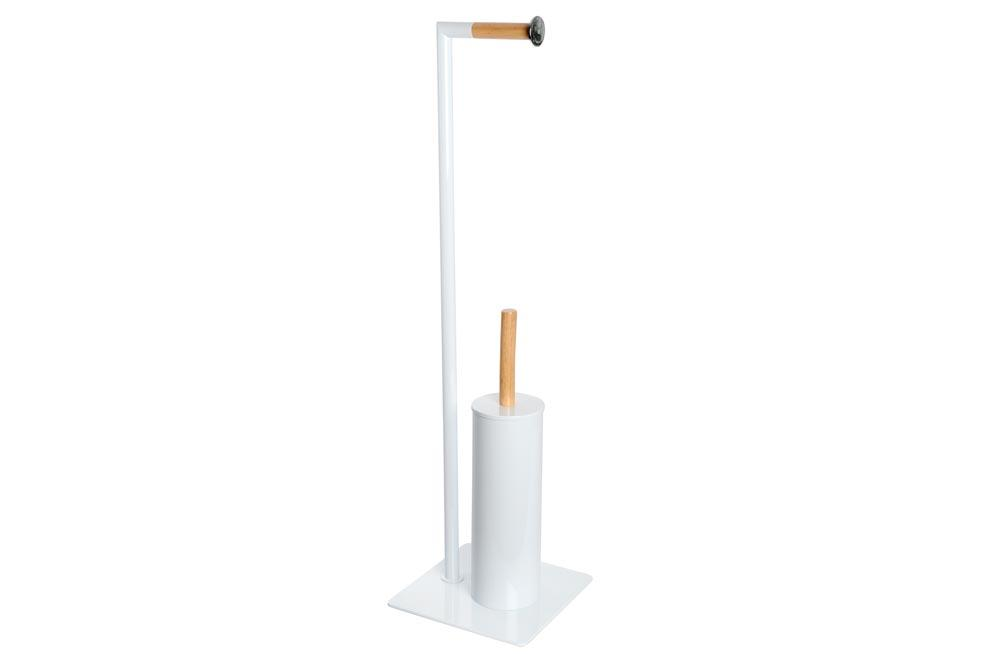 Toilet stand  HASSE-1 with toilet brush, white, 20x20x74cm