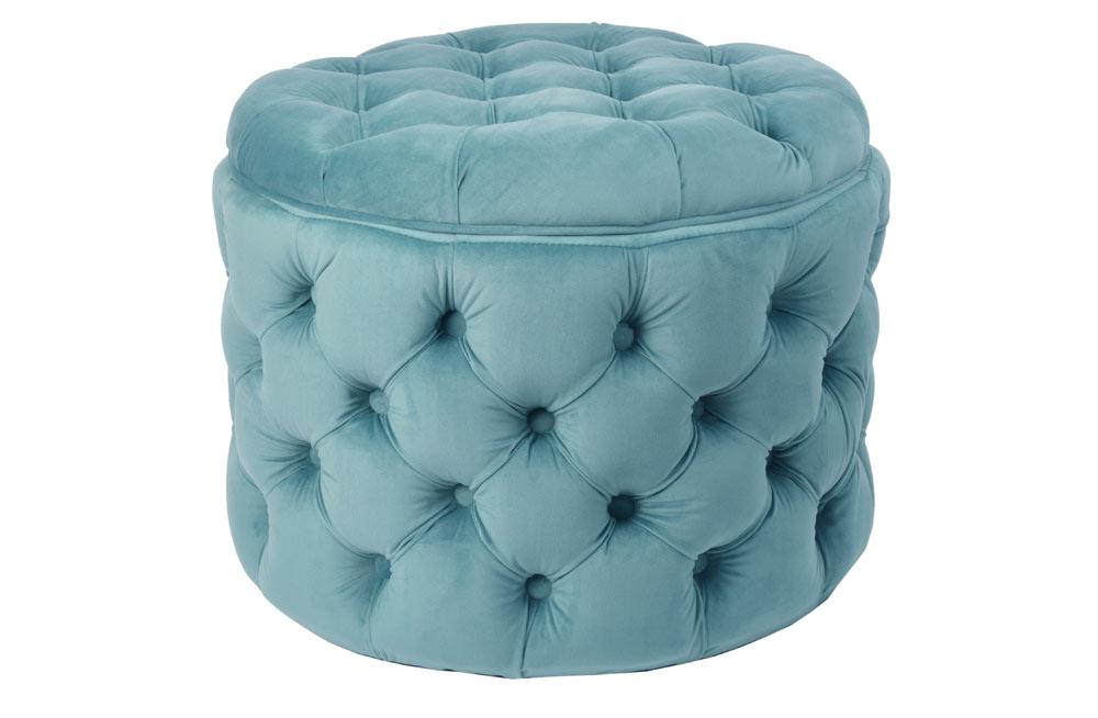 Storage Ottoman Rockfort, peppermint green, 55x55x43cm