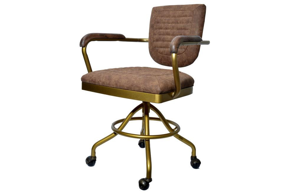 Chair Panam, vintage brown, H81-92x57x60cm