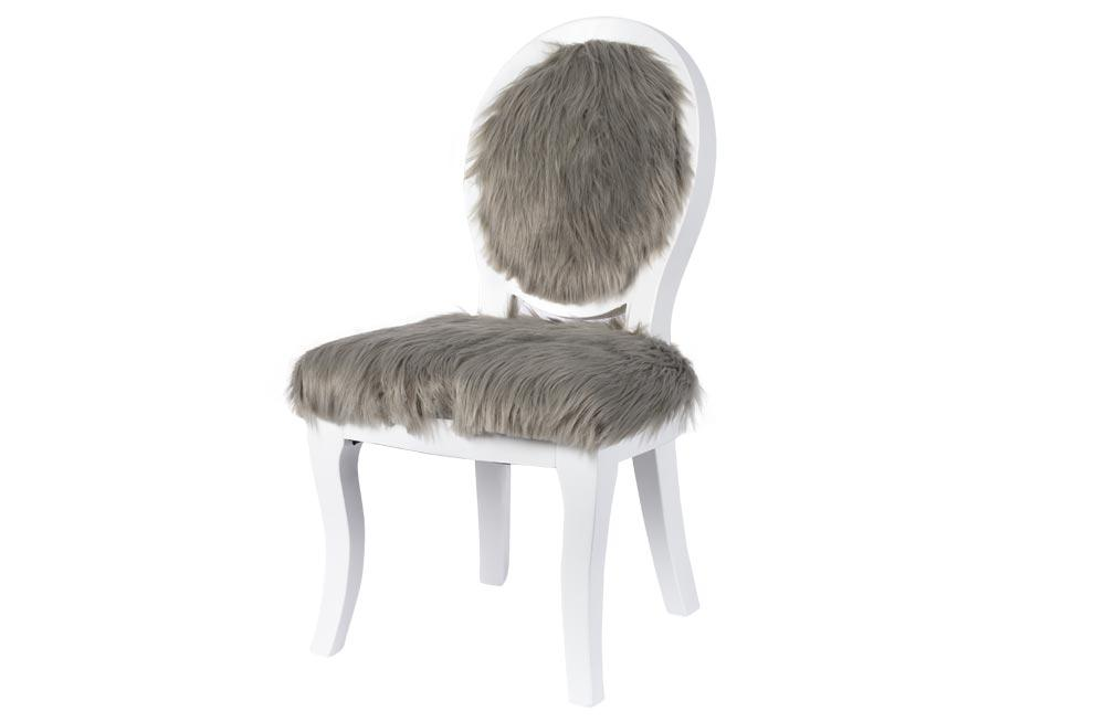 Kids chair Flamboyant, white/grey, 36x42x69cm