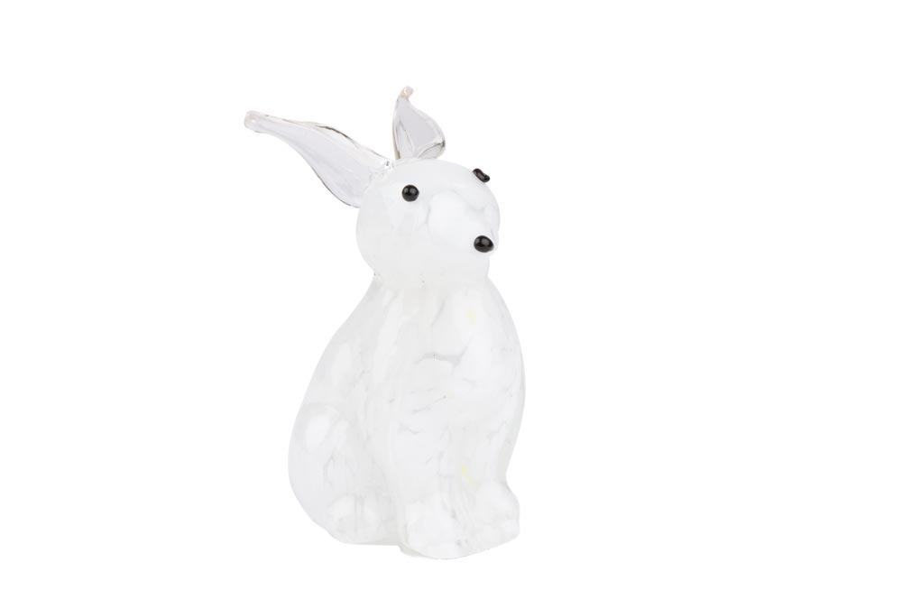 Decorative figurine Rabbit, 9x7x12cm, glass