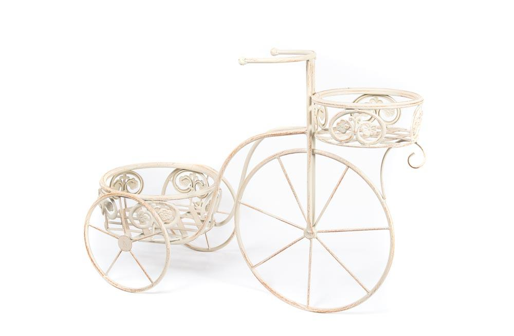 Planter Bicycle, antique/cream, 65x26x48cm