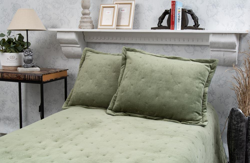 Bed cover Saimona, green, 160x220cm