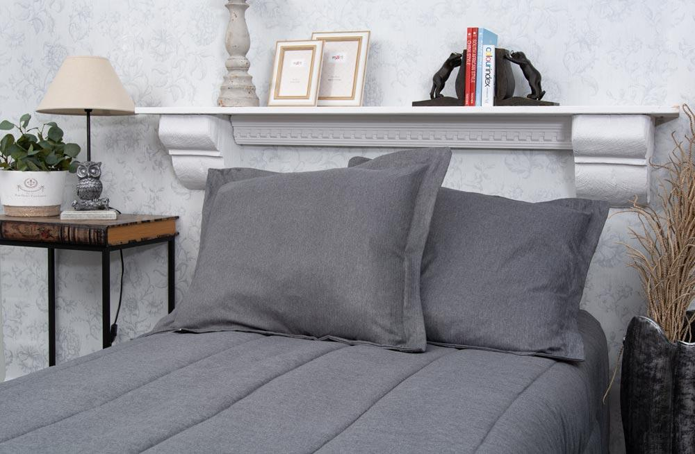 Bed cover Sagita, grey, 220x240cm