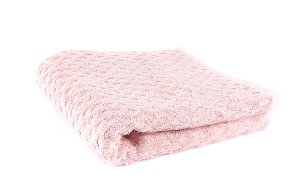 Bamboo towel 50x100cm, pink 550g/m2
