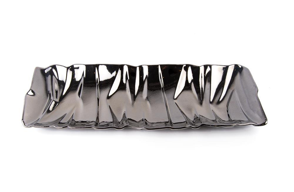 Decorative Dish ULTRA MODERN, 50.5x19cm,  platinum color