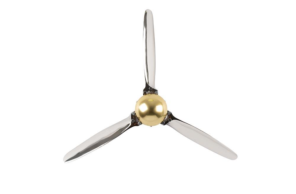 Aluminium decorative wall Propeller, 61x61x8cm