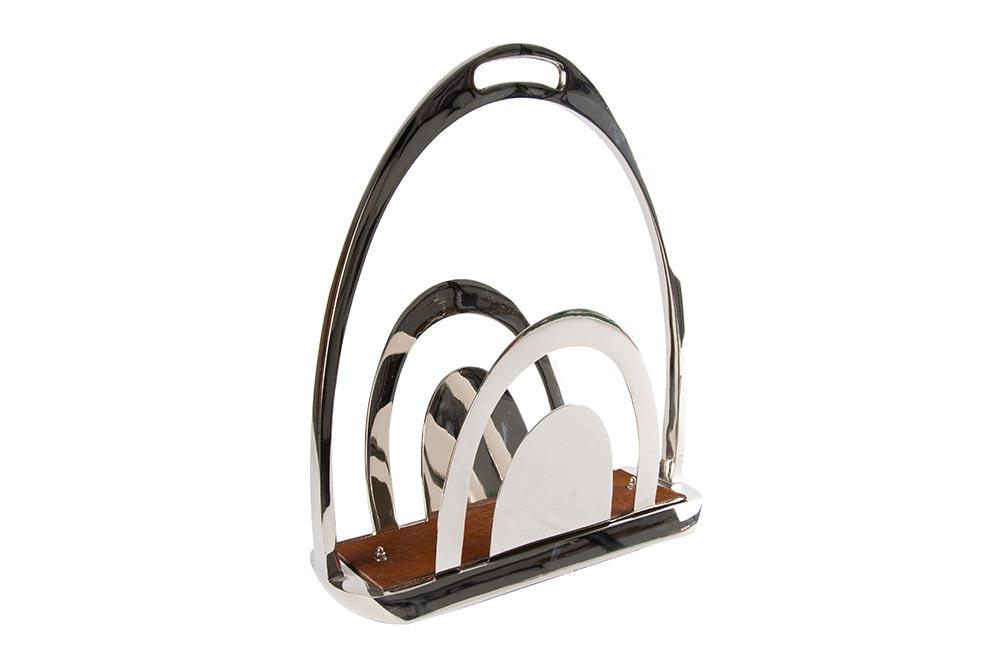 Aluminium/steel magazine holder, 39.5x19.7x45cm