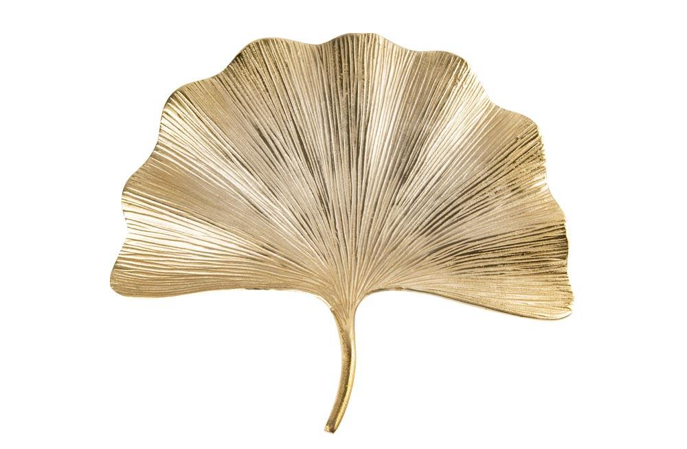 Wall Decoration Leaf, gold, 50cm