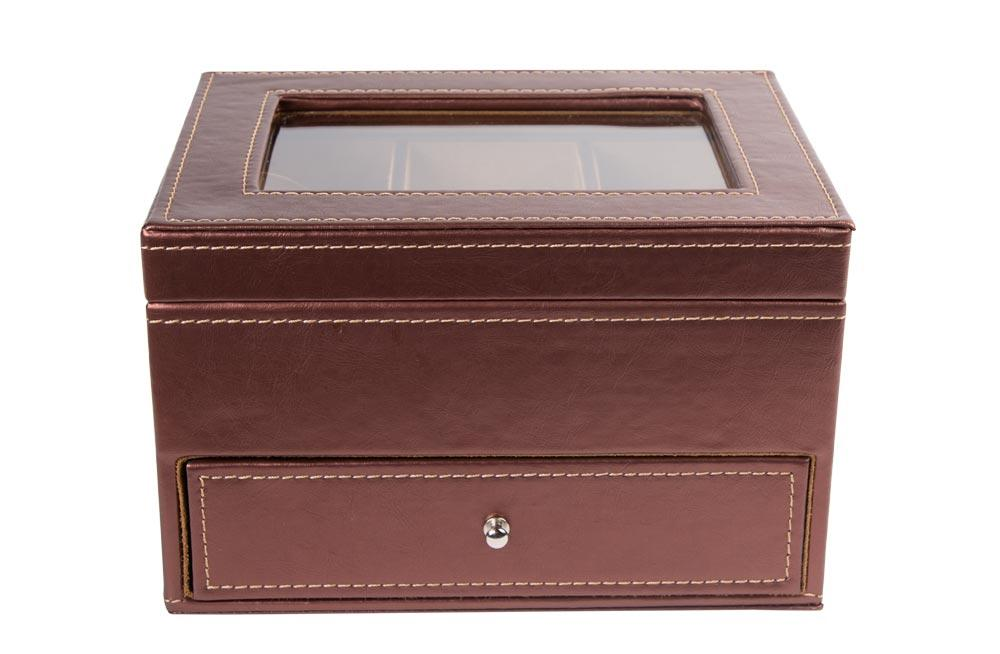 Glasses box, brown, 14.5x23x17.5cm