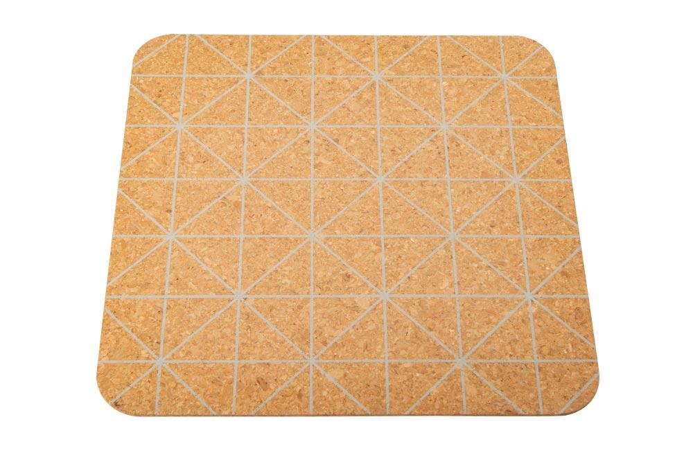 Placemat Corky, light grey, 30x30cm