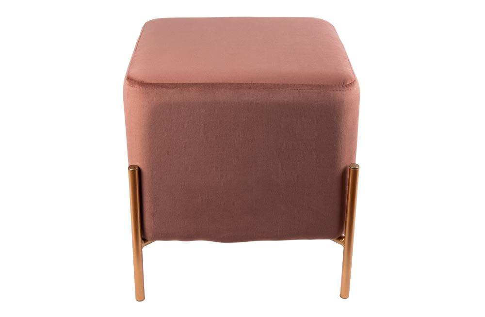 Stool Neo, coral rose color, 37x37x40cm