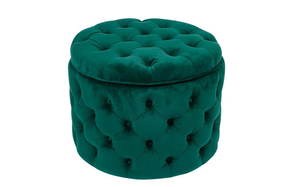 Wondrous Storage Ottoman Rockfort Emerald Green 55X55X43Cm Poufs Ocoug Best Dining Table And Chair Ideas Images Ocougorg