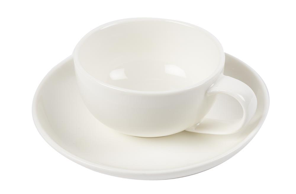 Coffee Cup Costa with saucer, 250ml, H-4cm, D-8.5cm, D-14cm
