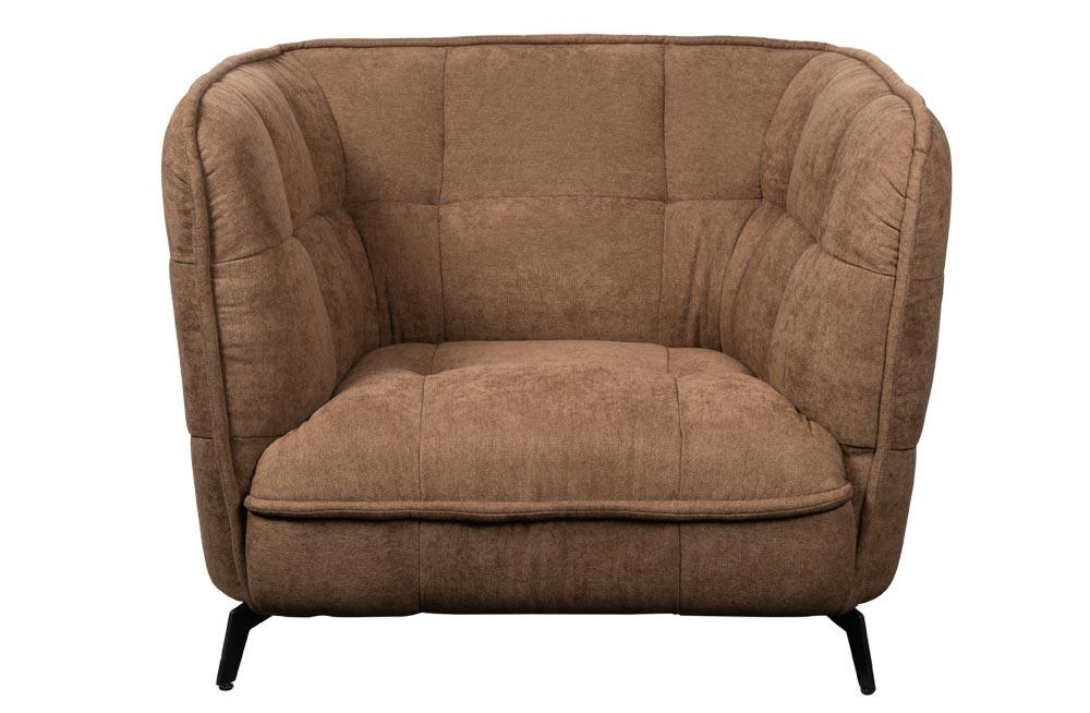 Sofa Stormo, brown, 95x79x79cm, seat height 35cm