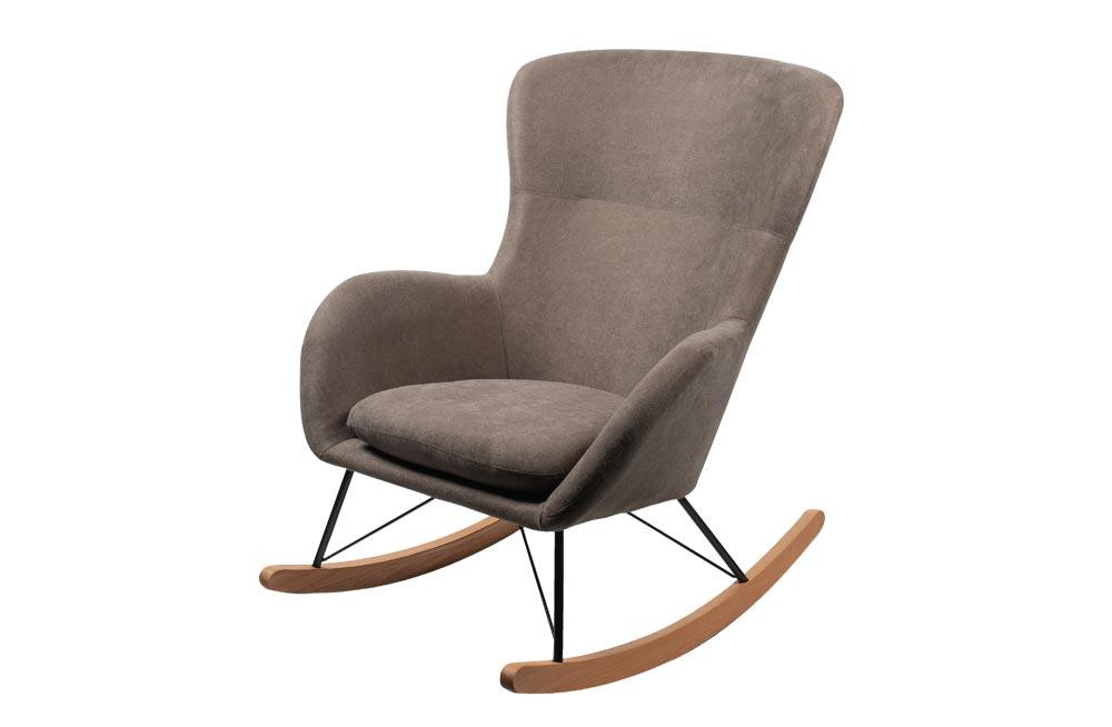 Rocking chair Amadeus, taupe H97x76x103cm, seat height 45cm