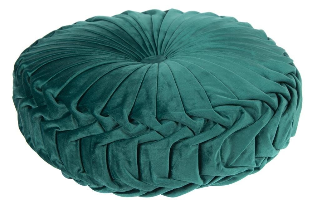 Decorative pillow Saksija, emerald green, D40cm