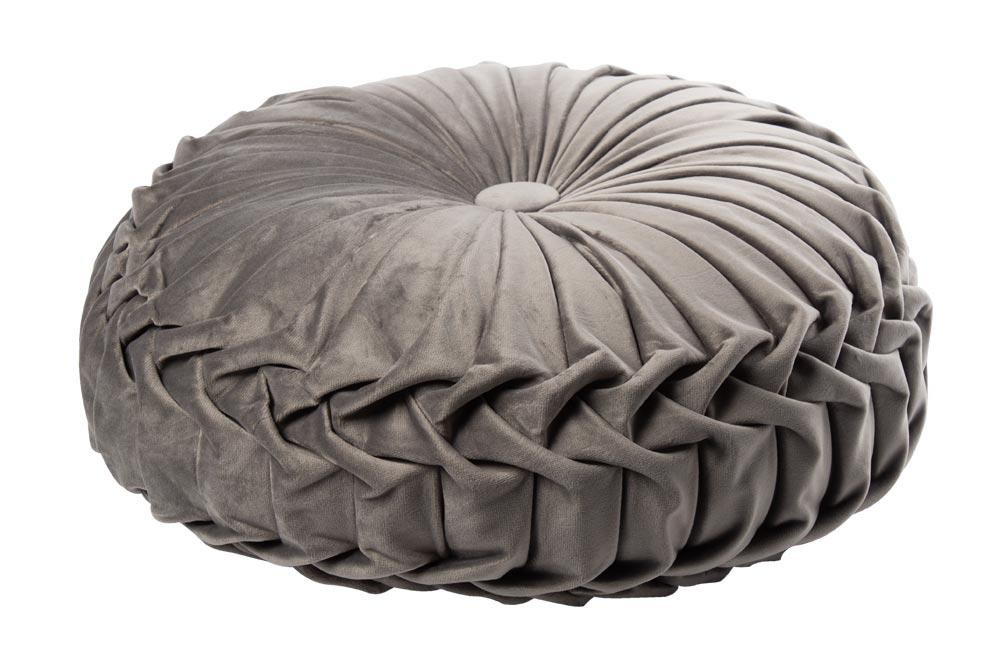 Decorative pillow Saksija, taupe, D40cm