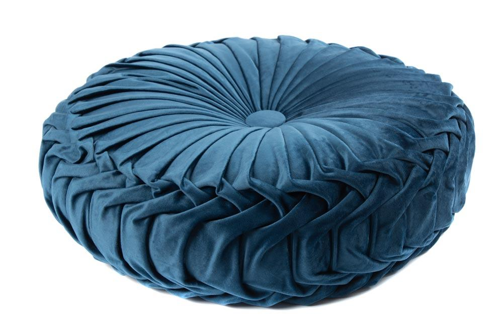 Decorative pillow Saksija, blue, D40cm