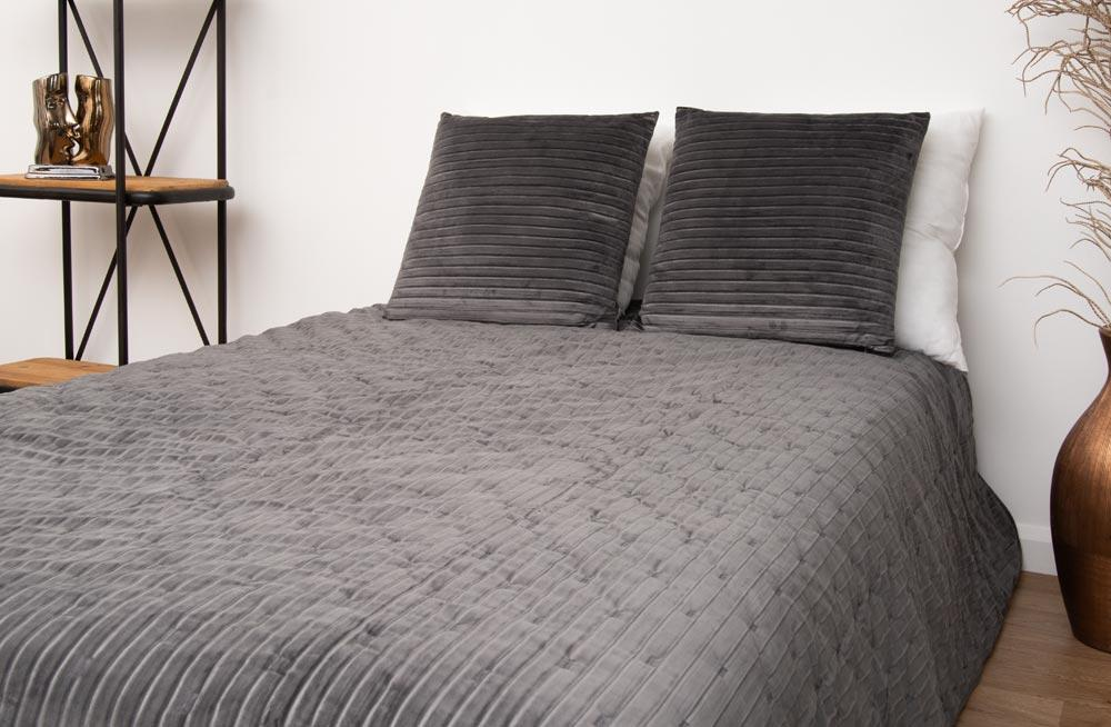 Bed cover Sidny, dark grey, 220x240cm