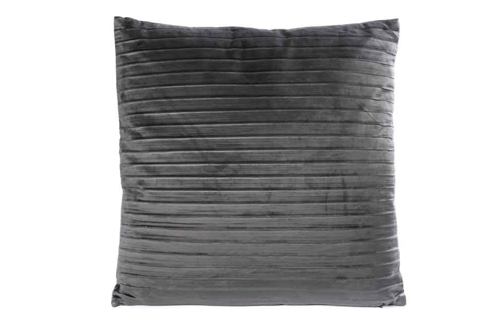 Pillow with filling Sidny, dark grey, 50x50cm