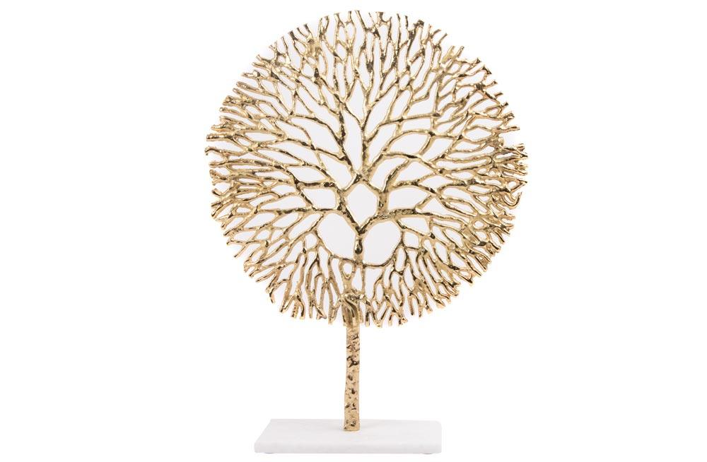 Decorative figure Tree, golden, 20x10x50cm
