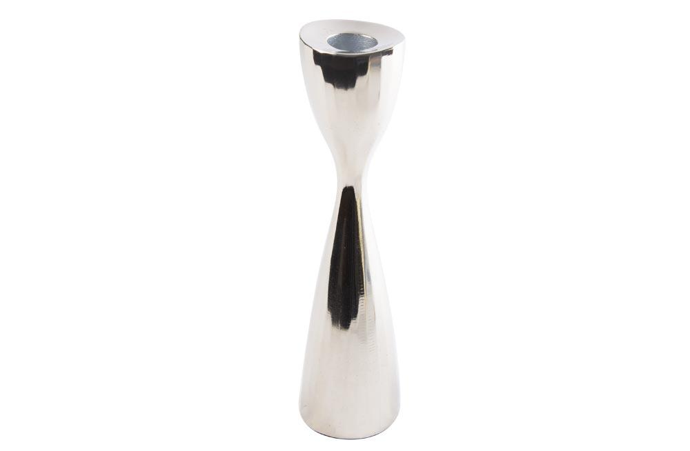 Candle holder Fiona M, nickel plated, 5.5x5.5x21cm