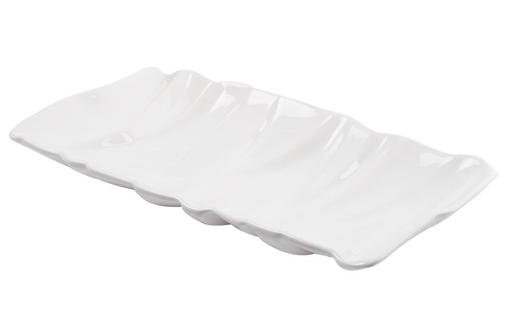Decorative Dish Ultra Modern, white, 35x18cm
