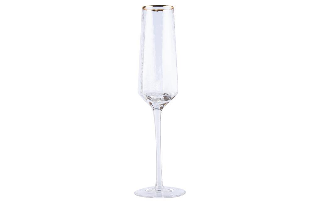 Champagne glass Bomond, golden, H25, D4-6 cm