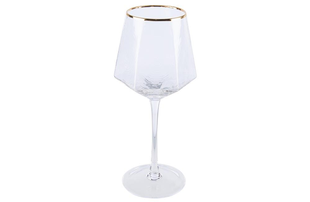 Red wine glass Bomond, golden, H22.5, D6.5-9 cm