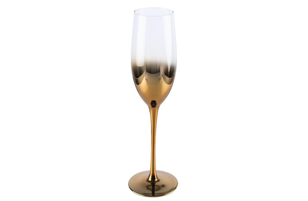Champagne glass Metallic, copper colour, H25, D5-5.5 cm