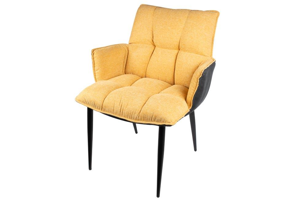 Armchair Allen, yellow, 84x50x66cm seat height 45cm