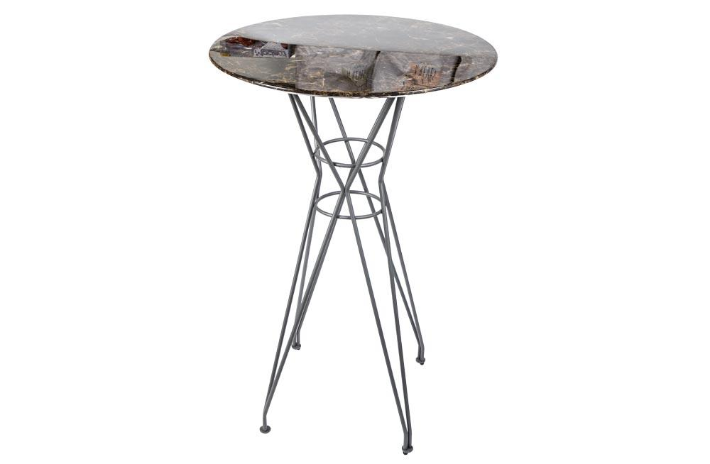 Bar table Gozo, stone surface/mustad jalad, D70 H103cm