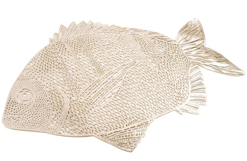 Placemat Fish, golden, 34.5x51cm