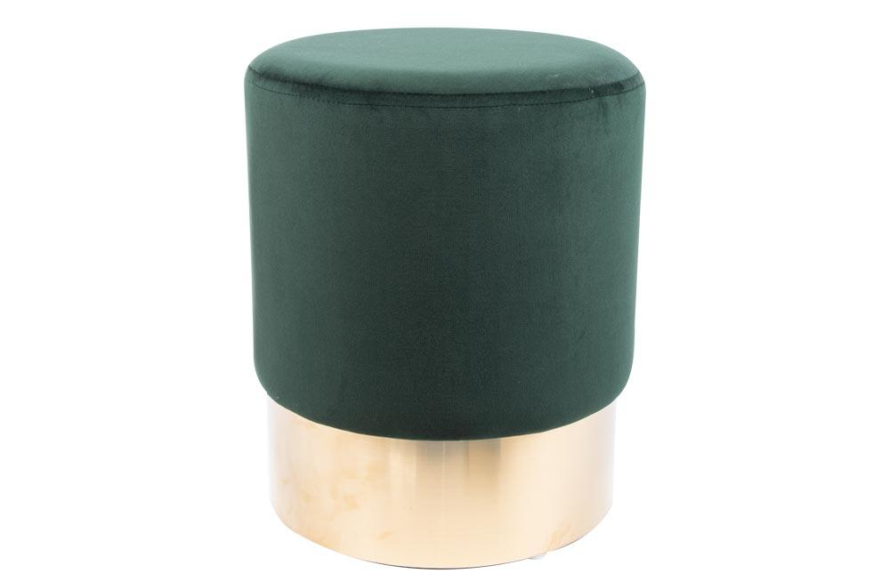 Stool Noto, moss green/golden base, 35x42cm