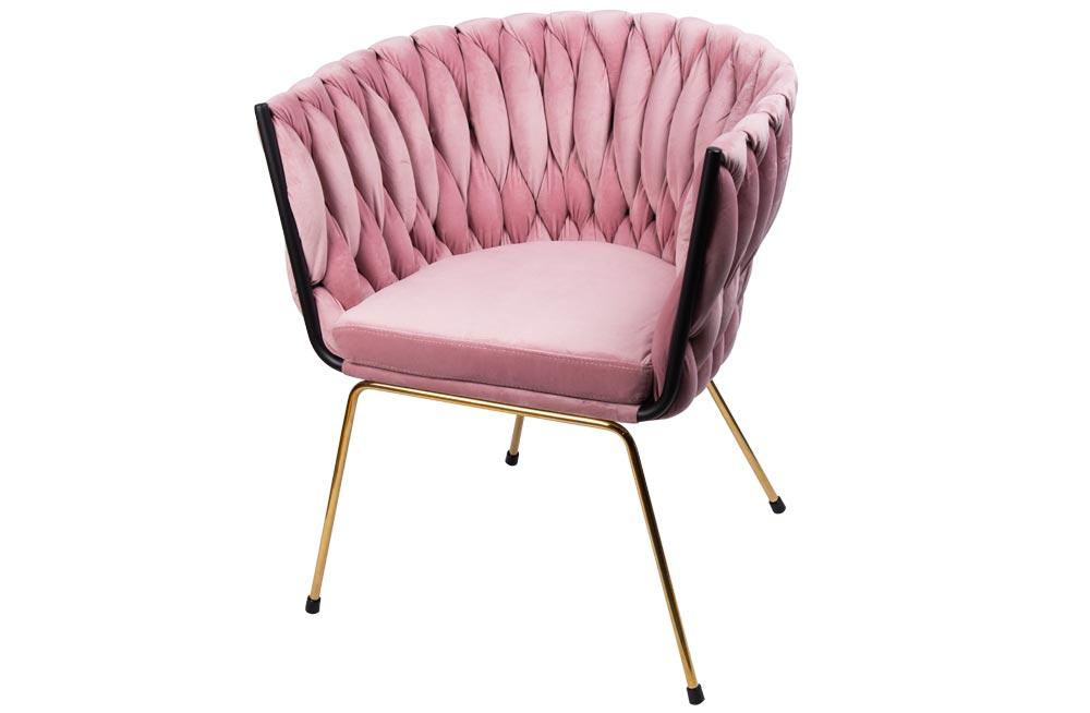 Accent chair Okene, pink, 60x66x74cm, seat height 46cm