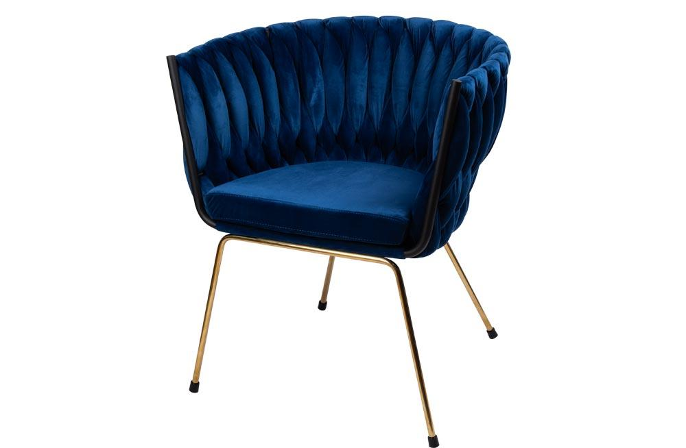 Accent chair Okene, blue 60x66x74cm, seat height 46cm
