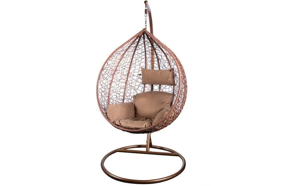 Hanging chair Eden-2, brown,  H195 D105cm