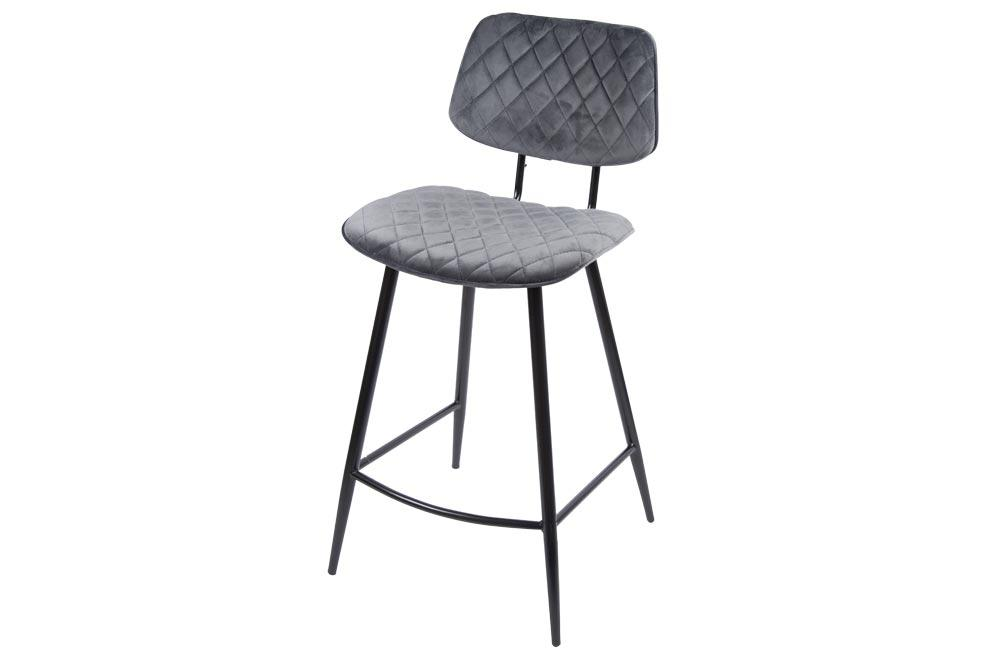 Bar stool Sakado, grey, 45x53x H95cm, seat height 67cm