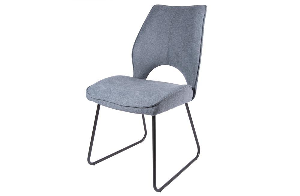 Chair Dayton, grey, black legs, 50x90.5x62cm, seat height 48cm